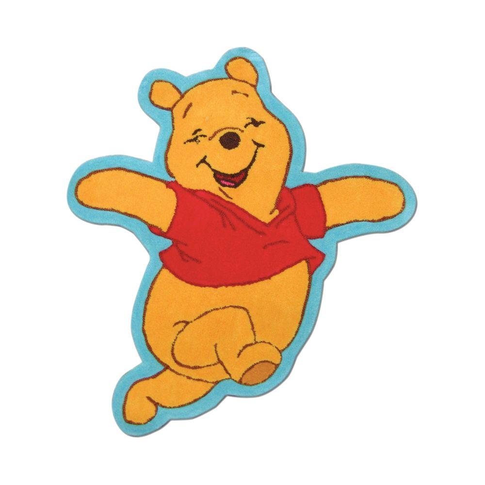 Disney Multicolor 3 ft. x 5 ft. Pooh Scribbles Shaped Kid's Rug-DISCONTINUED