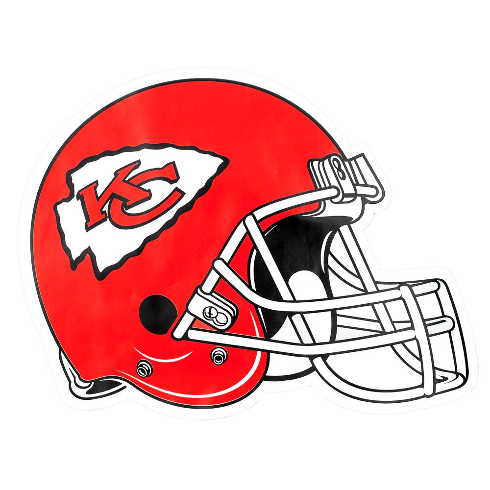 Applied Icon Nfl Kansas City Chiefs Outdoor Helmet Graphic Large Nfoh1603 The Home Depot