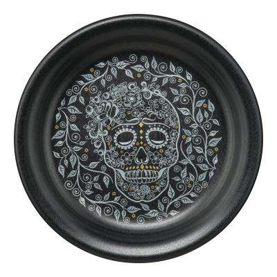 Black Skull and Vine Appetizer Plate