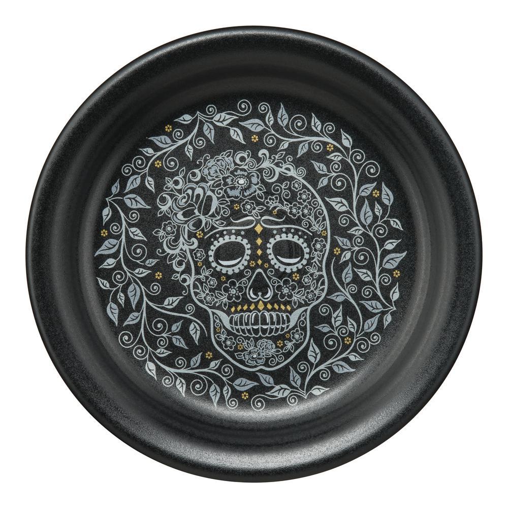 Fiesta Fiesta Black Skull and Vine Appetizer Plate