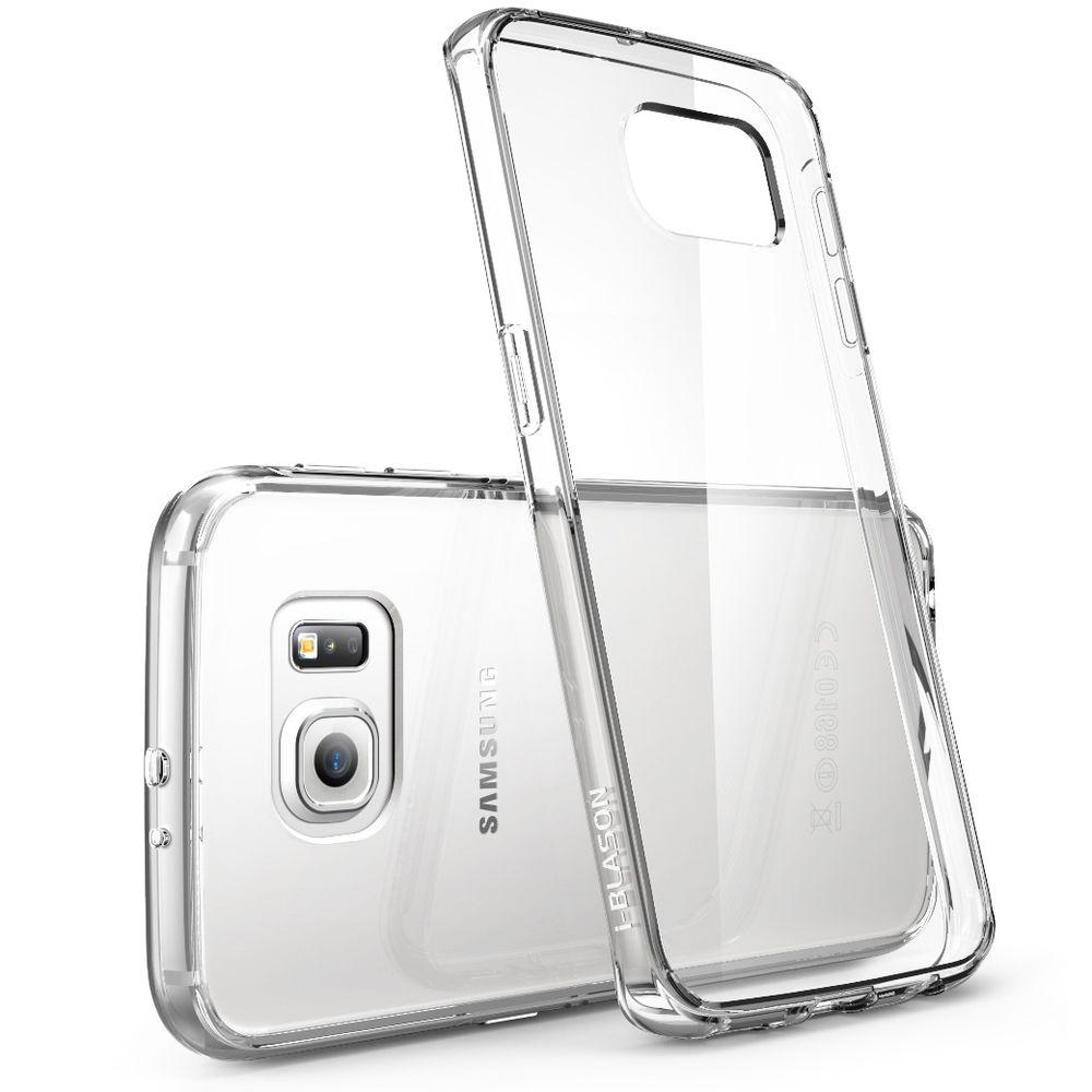 super popular 8ad1f 6030d i-Blason Halo Scratch Resistant Case for Samsung Galaxy S6 Edge, Clear
