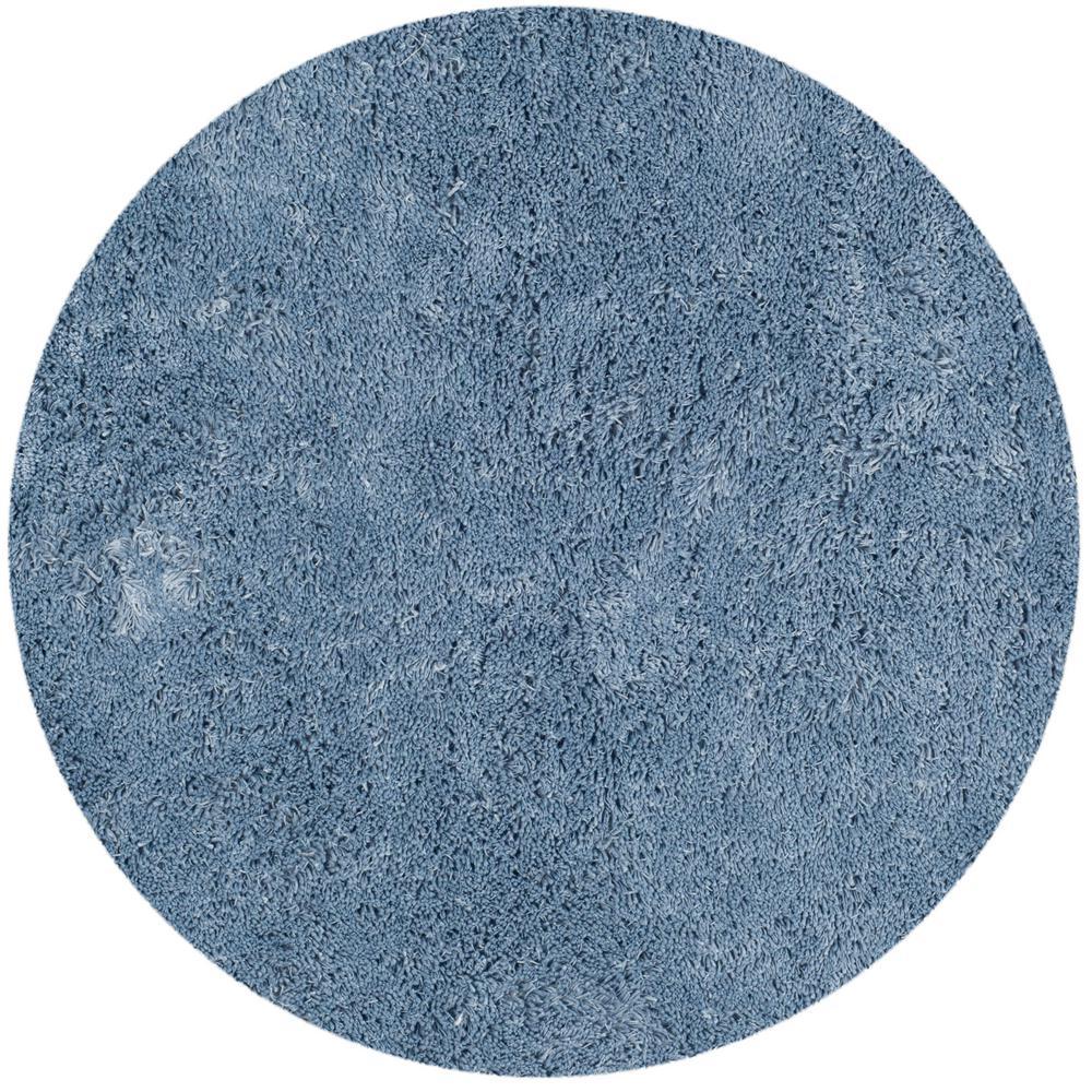 Classic Shag Ultra Light Blue 6 ft. x 6 ft. Round Area Rug