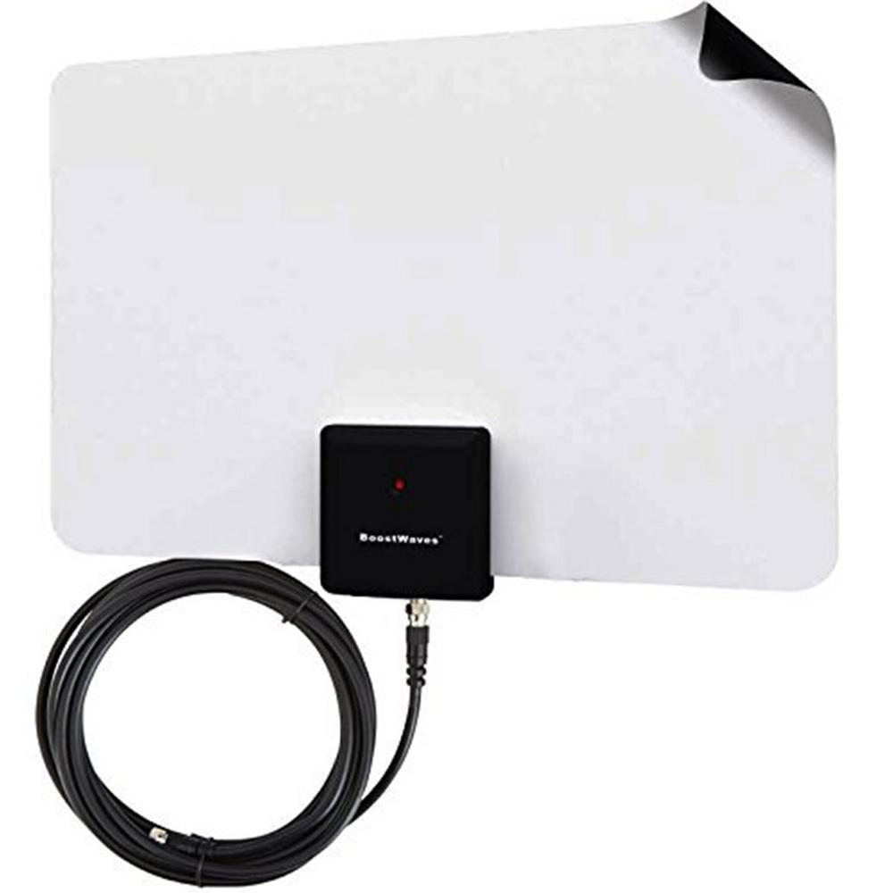 Supreme Amplified Razor 50 HDTV Indoor Antenna with RG6 Cable