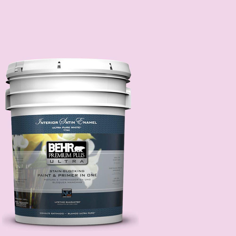 BEHR Premium Plus Ultra 5-gal. #680A-1 Candy Tuft Satin Enamel Interior Paint