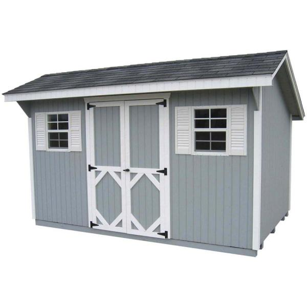Classic Saltbox 10 ft. x 12 ft. Wood Storage Building DIY Kit with Floor