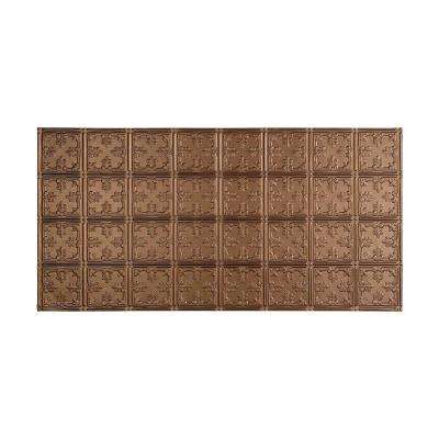 Traditional 10 - 2 ft. x 4 ft. Glue-up Ceiling Tile in Argent Bronze