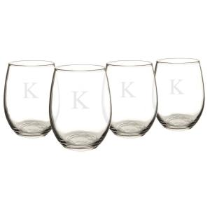 Click here to buy  Personalized Stemless Wine Glasses - K.