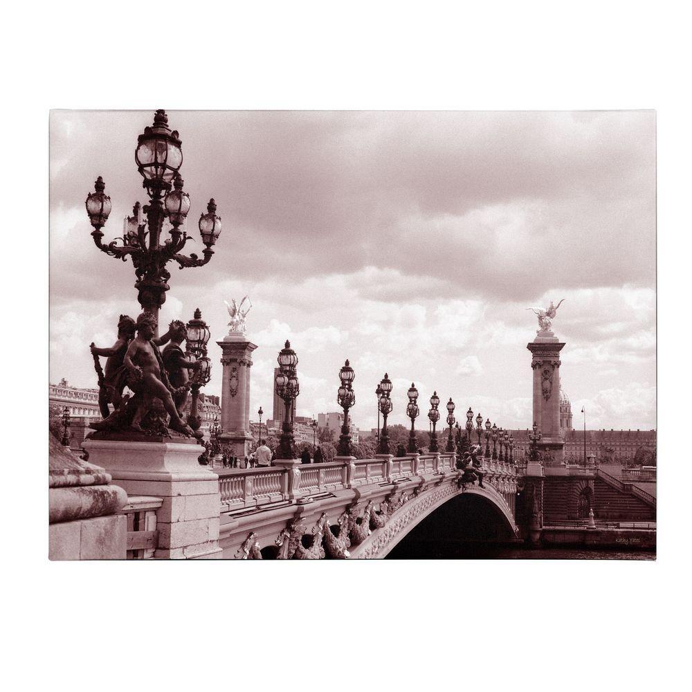 Trademark Fine Art 14 in. x 19 in. Pont Alexandre III Bridge Canvas Art