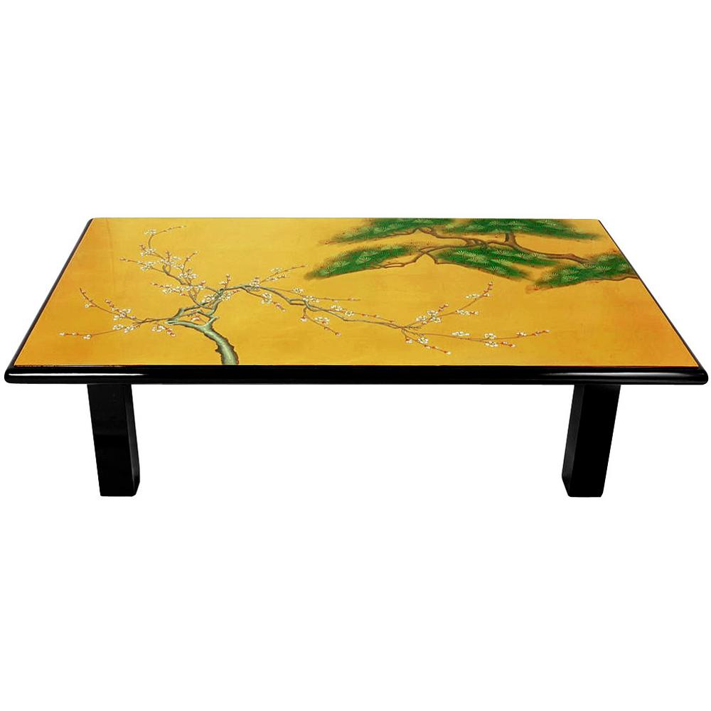 Oriental Furniture Gold Coffee Table