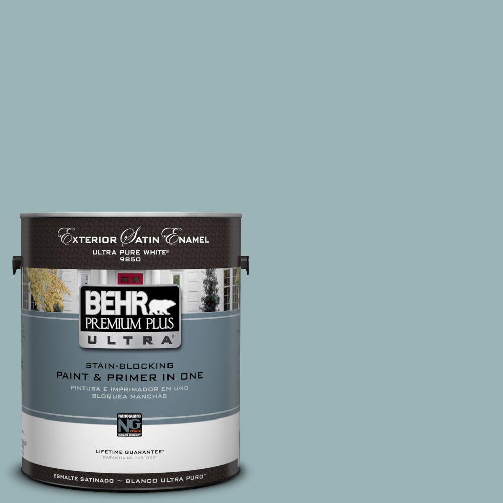 BEHR Premium Plus Ultra 1-Gal. #UL220-6 Harmonious Satin Enamel Exterior Paint