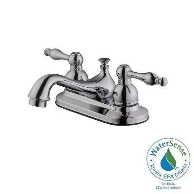 Saratoga 4 in. Centerset 2-Handle Bathroom Faucet in Polished Chrome