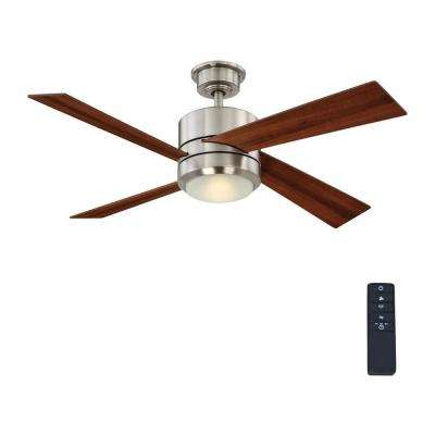 Healy 48 in. LED Indoor Brushed Nickel Ceiling Fan