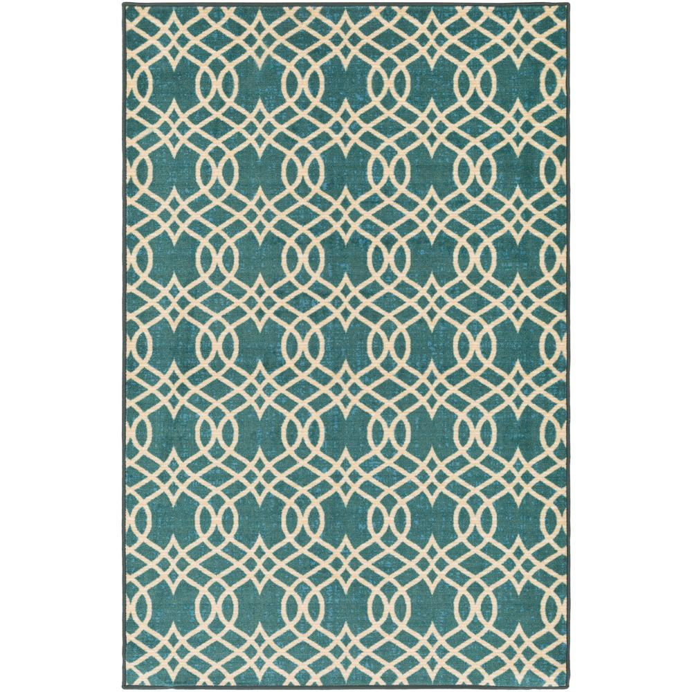 SURYA Sonya Aqua (Blue) 5 ft. x 8 ft. Indoor Area Rug