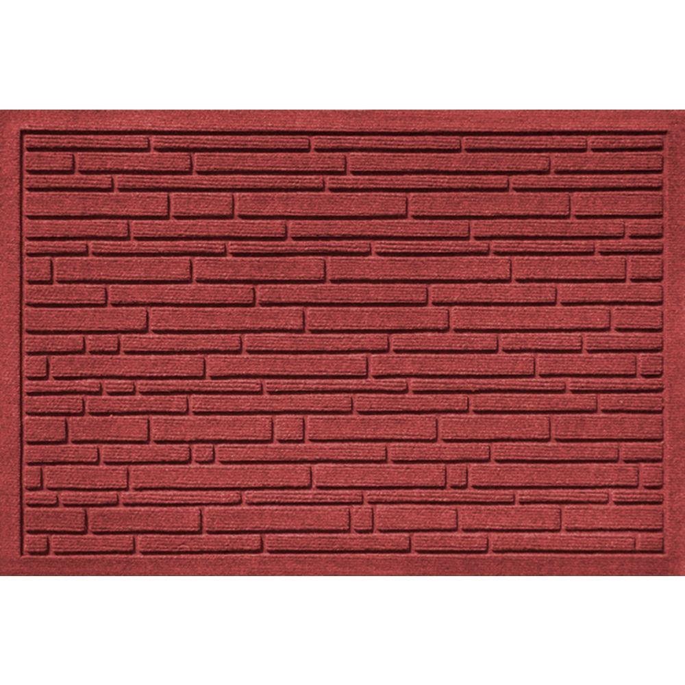 Aqua Shield Broken Brick Red and Black 17.5 in. x 26.5