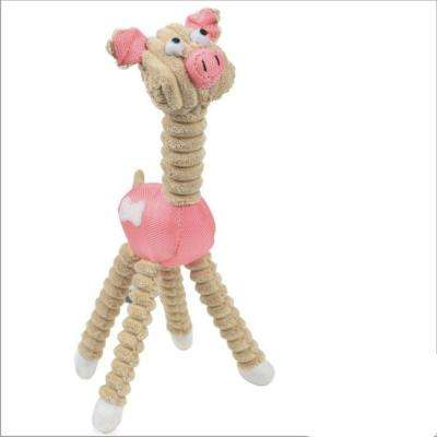Jute and Rope Giraffe Dog Toy in Pink