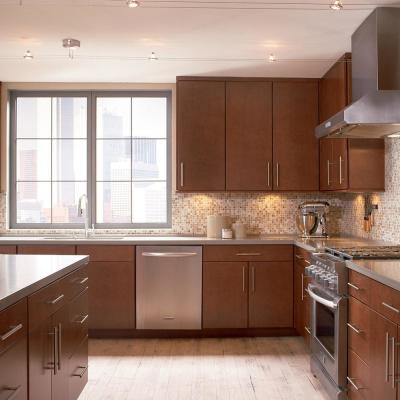 American Woodmark Custom Kitchen Cabinets Shown In Modern Style