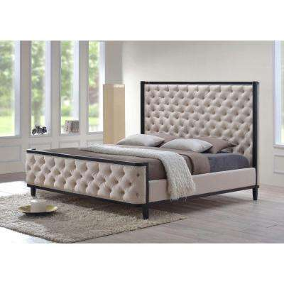 Kensington Khaki Queen Upholstered Bed