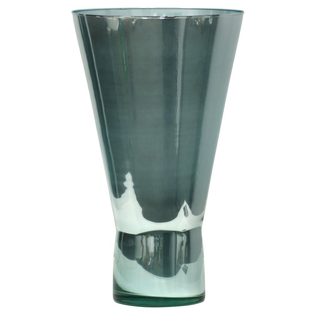StyleCraft Large Wide Mouth Spanish Glass Turquoise Iridescence Vase, Iridescence Turquoise was $64.99 now $27.12 (58.0% off)