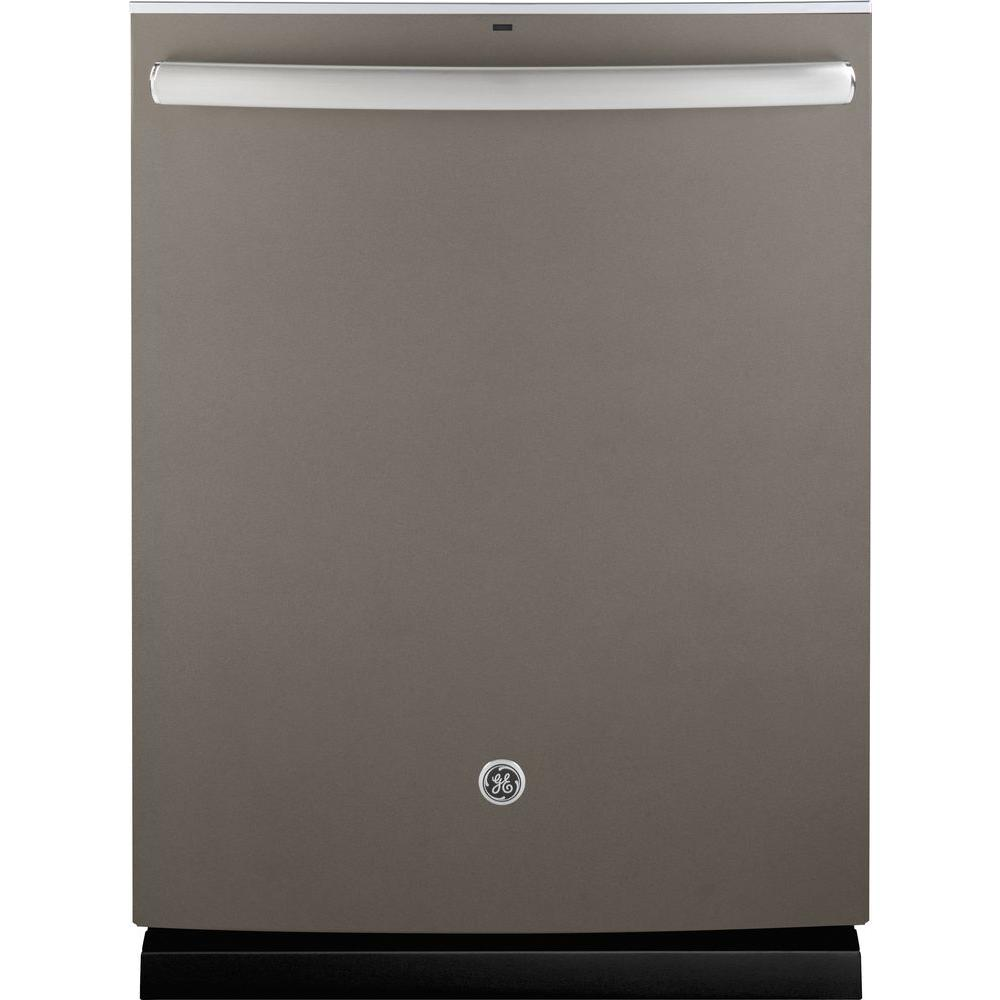 GE 24 in. Tall Tub Top Control Dishwasher in Slate with Stainless Steel Tub and Steam Prewash