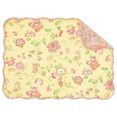 Yellow Leah Quilted Placemat (Set of 6)