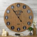 undefined 36 in. Round Metal Wall Clock