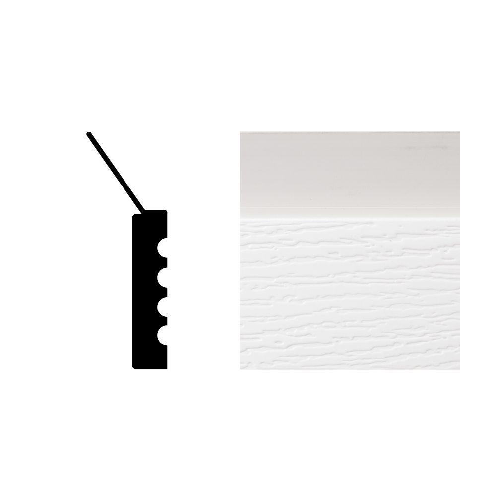 Veranda 9 ft. x 2 in. x 7/16 in. Vinyl Composite Garage Doorstop Moulding