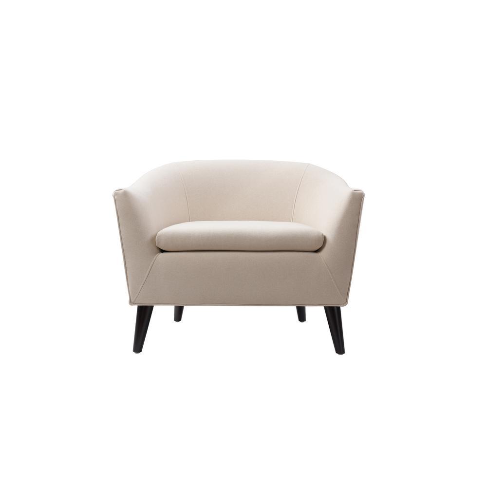 Lia Sky Neutral Barrel Chair