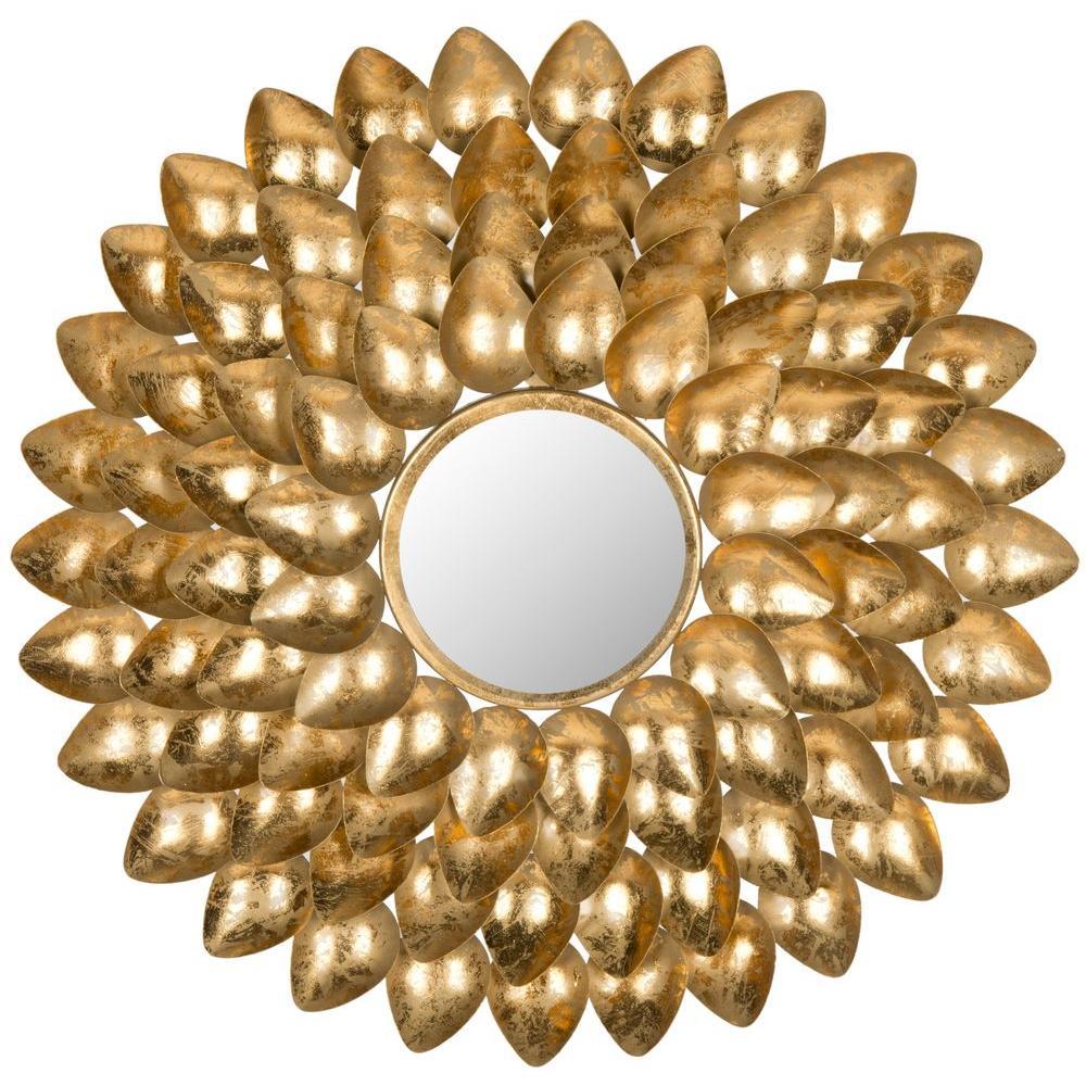 Woodland Sunburst 29 in. x 29 in. Iron Framed Mirror