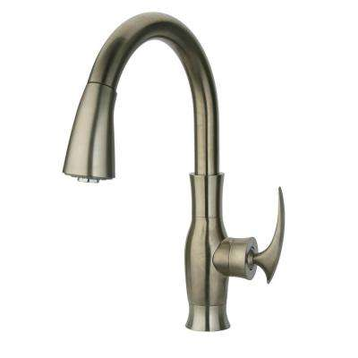 Firenze Single-Handle Pull-Down Sprayer Kitchen Faucet in Brushed Nickel