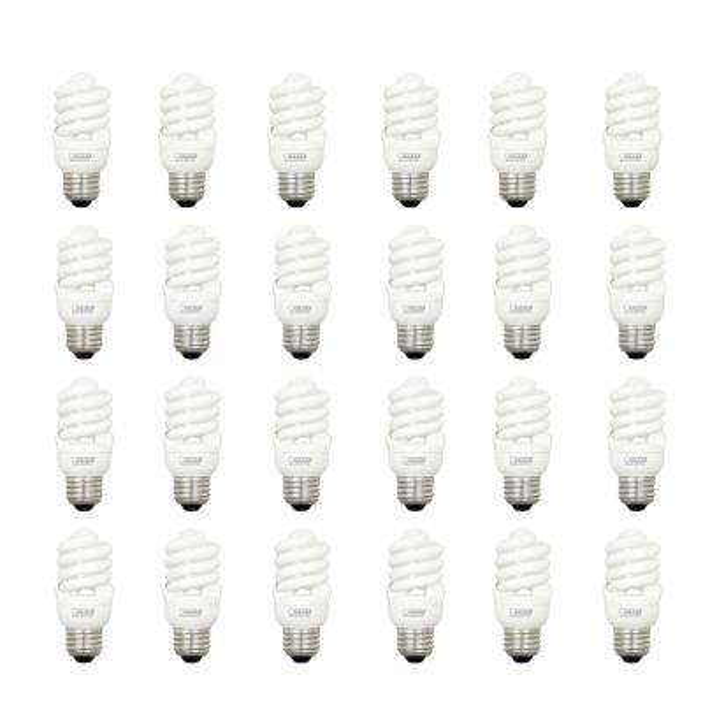 60W Equivalent Soft White (2700K) T2 Spiral CFL Light Bulb (24-Pack)