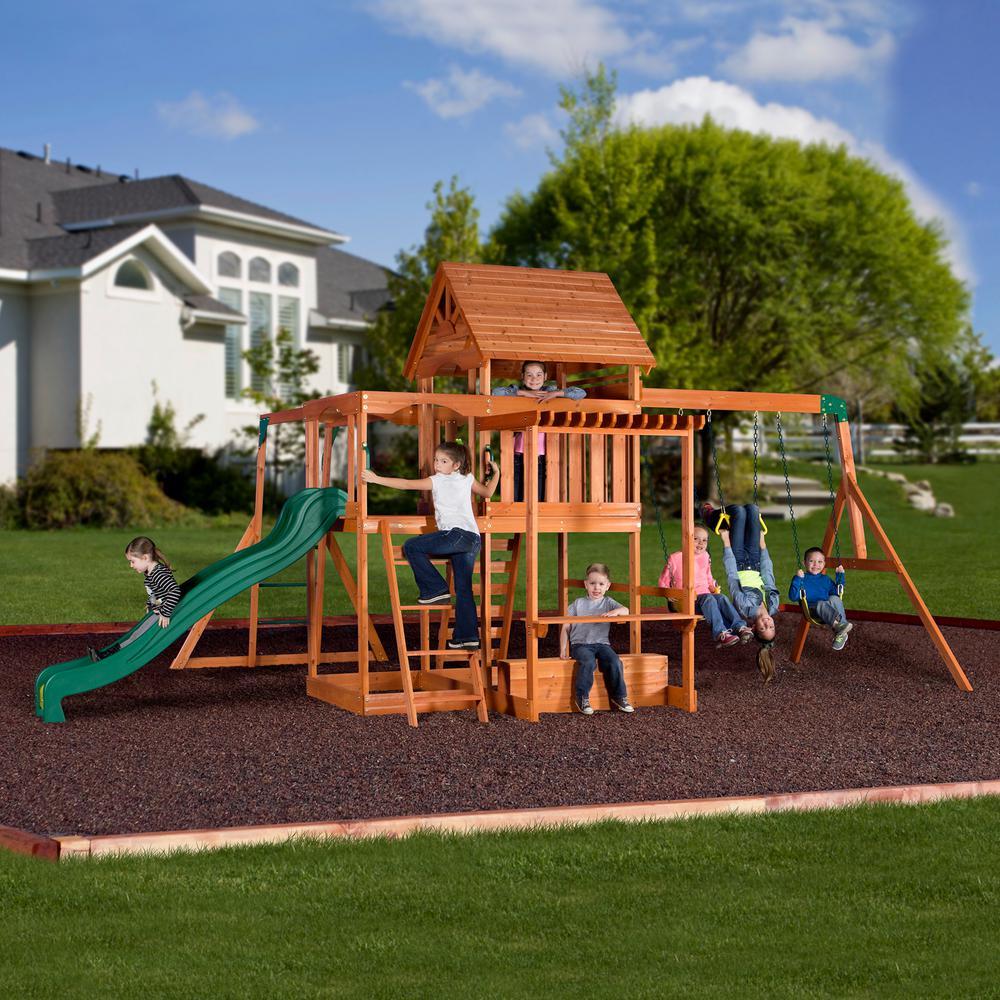 Backyard Discovery Monticello All Cedar Swing Set