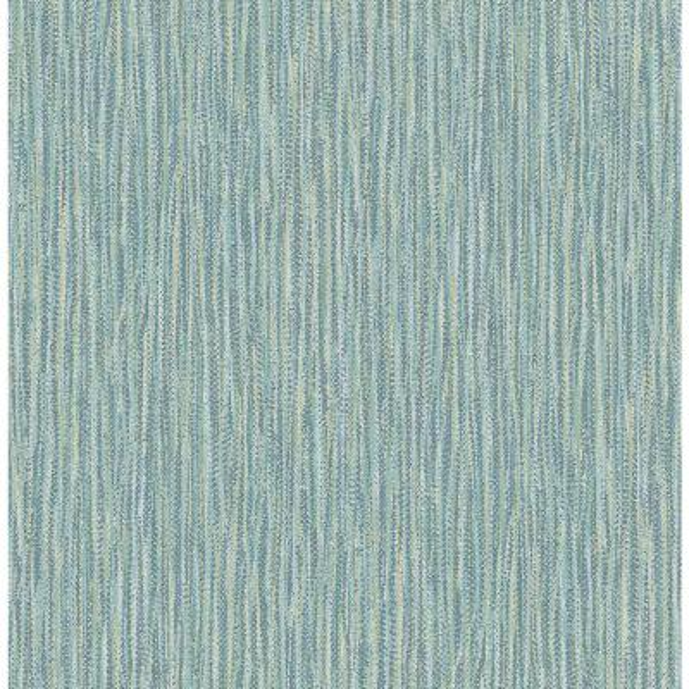 56.4 sq. ft. Raffia Thames Aqua Faux Grasscloth Wallpaper