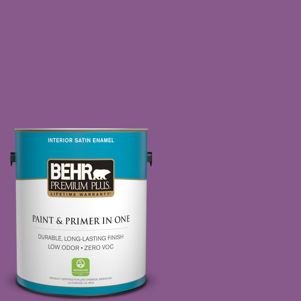 1-gal. #670B-7 Candy Violet Zero VOC Satin Enamel Interior Paint