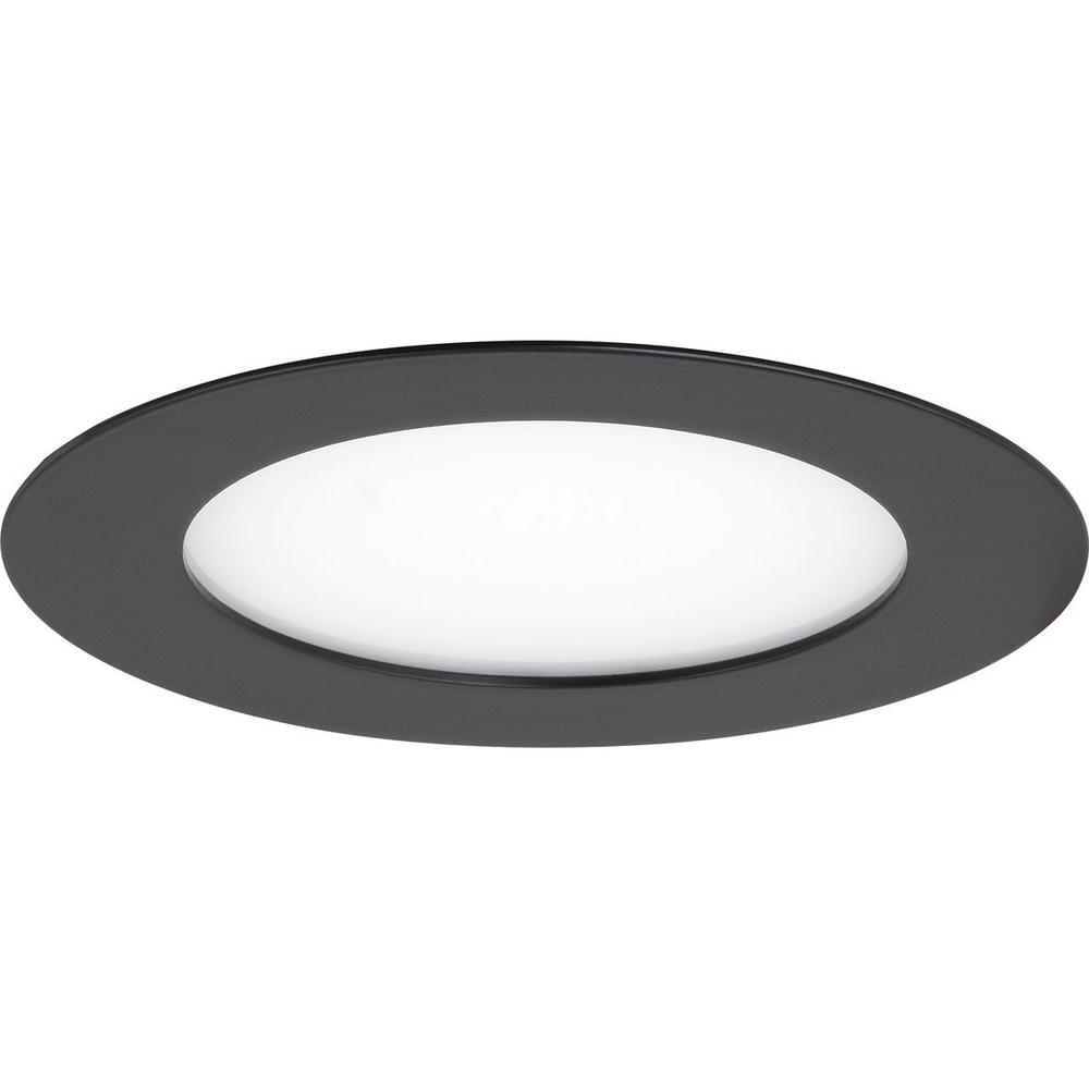 Progress Lighting 7 In 3000k Black Integrated Led Recessed Trim