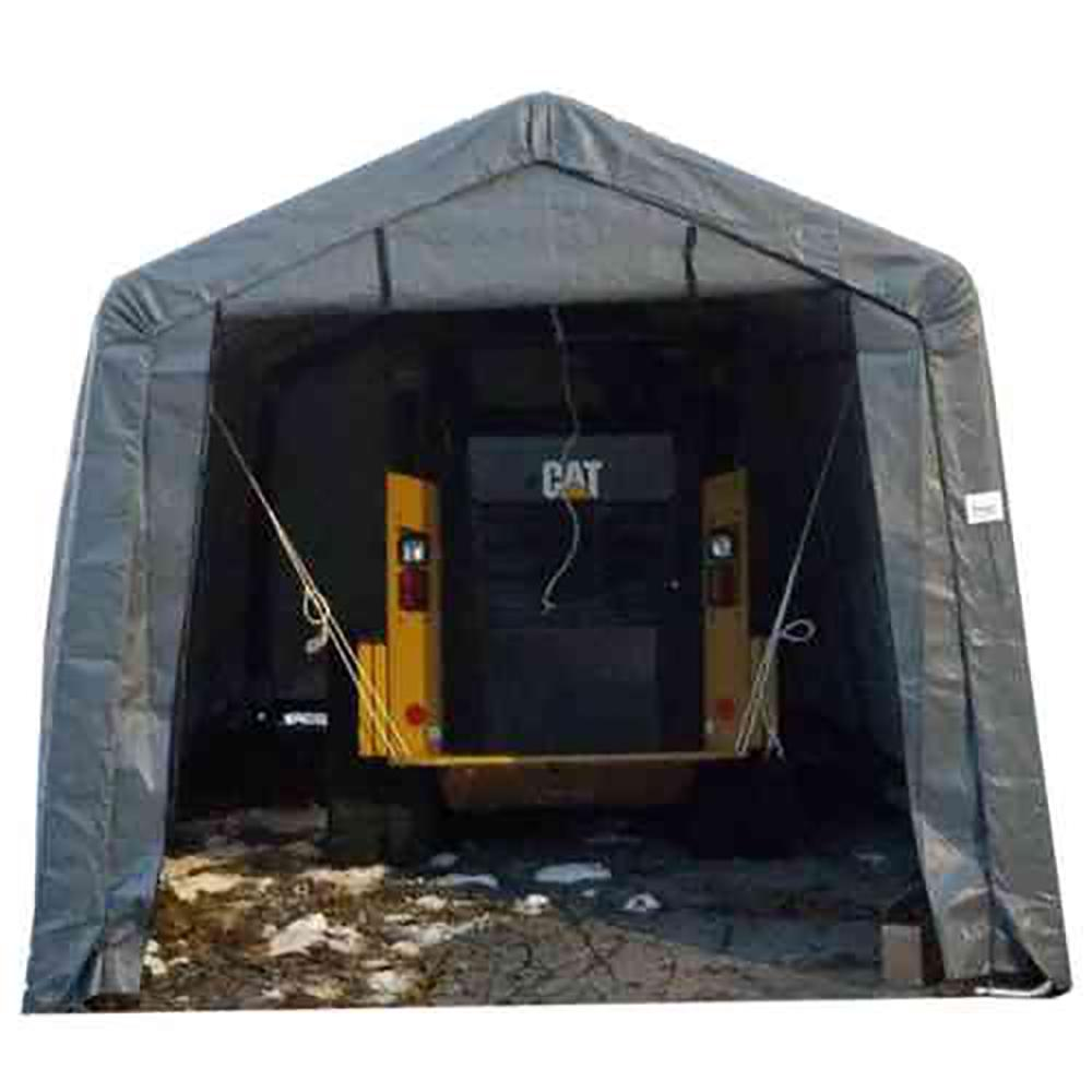 ShelterIT 12 foot W x 28 foot D x 8 foot H Steel Frame Polyethylene Instant Garage/Shed without Floor