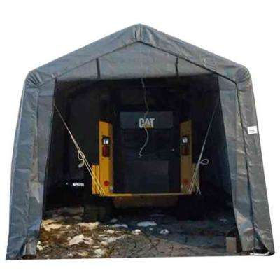 12 ft. W x 28 ft. D x 8 ft. H Steel Frame Polyethylene Instant Garage/Shed without Floor
