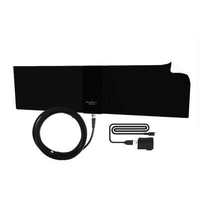 Supreme Amplified Razor Urban HDTV Indoor Flat Leaf Antenna 50-Mile Range with RG6 Cable