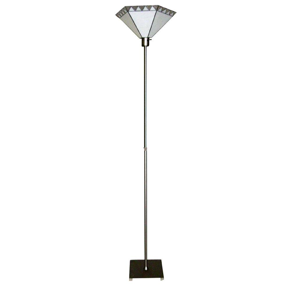 Dale Tiffany Tiffany 74-1/2 in. Torchiere Brushed Nickel Floor Lamp-DISCONTINUED