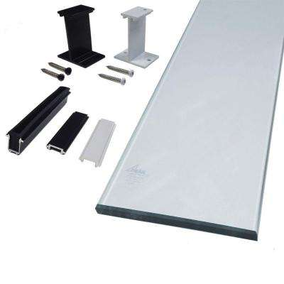 6 in. Clear Glass Panel Kit