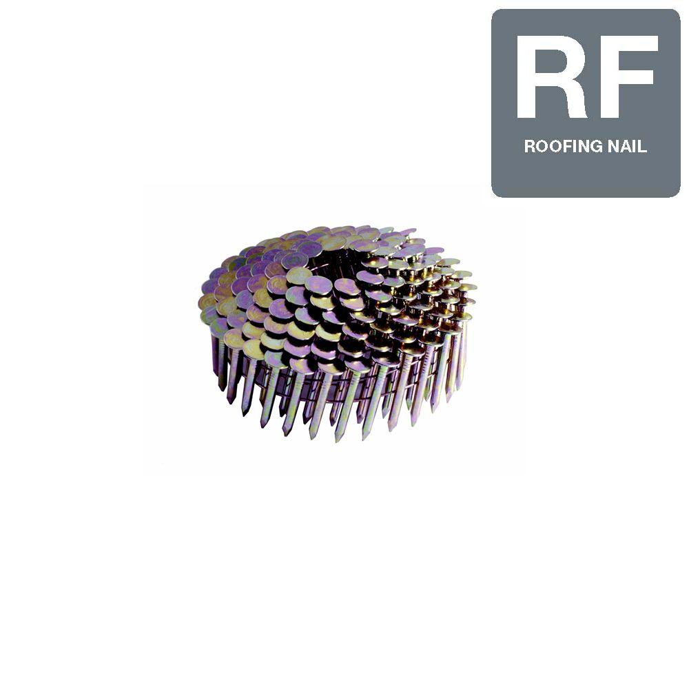 Grip-Rite 1-1/4 in. Smooth Galvanized Collated Roofing Nails (7,200-Pack)