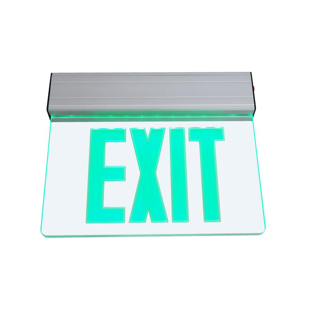 EXL2 Series 3.6-Volt Clear Integrated LED Emergency Exit Sign with Green