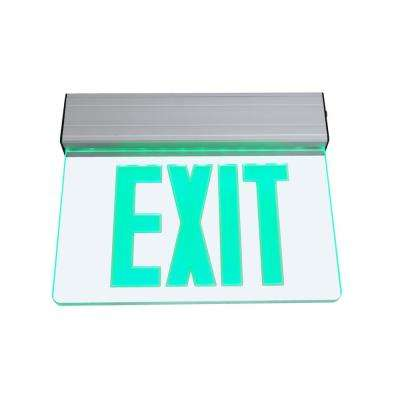 EXL2 Series 3.6-Volt Clear Integrated LED Emergency Exit Sign with Green Lettering