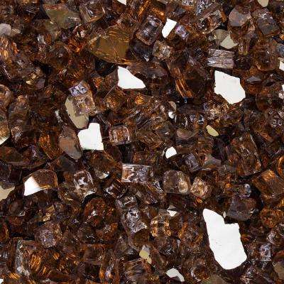 1/2 in. 10 lbs. Cosmic Copper Reflective Tempered Fire Glass in Jar