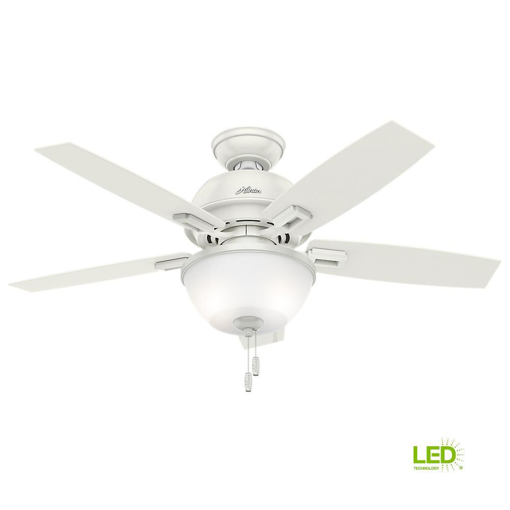 44 White Downrod Close Mount Indoor Outdoor Tropical: Hunter Ridgefield Ceiling Fan Instructions