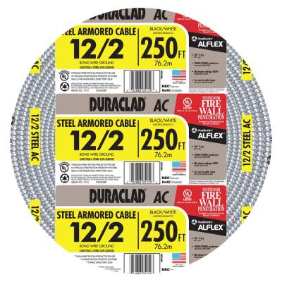 600-Volt 250 ft. 12/2 Duraclad Type AC Lightweight Steel Armored Cable