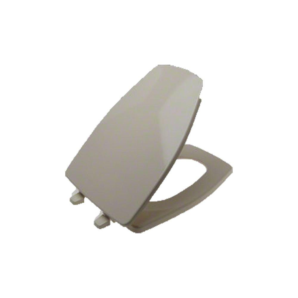 kohler rochelle elongated closed front toilet seat in almond 1014072 47 the home depot. Black Bedroom Furniture Sets. Home Design Ideas