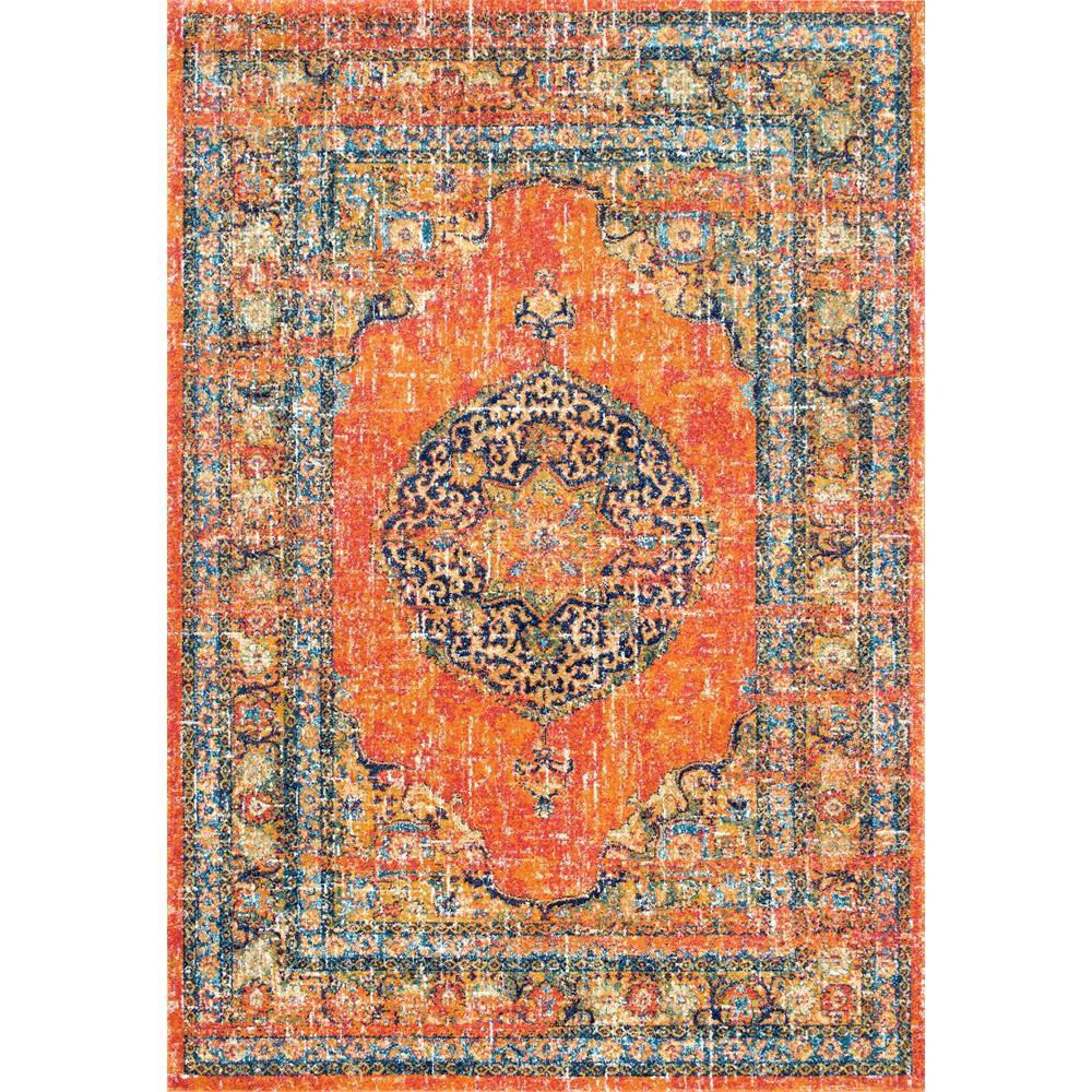 Area Rug 8x10 Orange: NuLOOM Persian Vintage Olivia Orange 5 Ft. X 7 Ft. Area