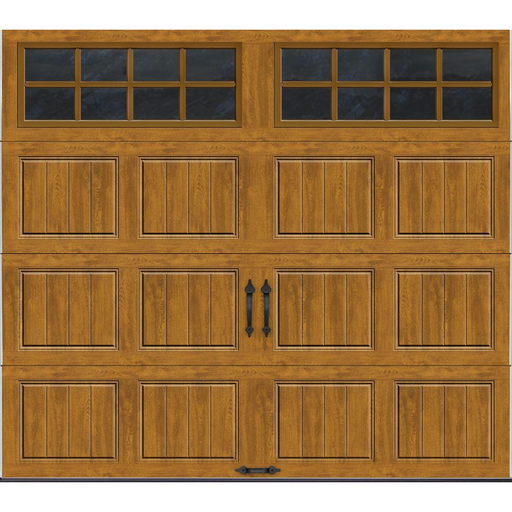 Clopay Gallery Collection 8 ft. x 7 ft. 6.5 R-Value Insulated Ultra-Grain Medium Garage Door with SQ24 Window