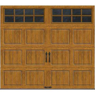 Gallery Collection 8 ft. x 7 ft. 18.4 R-Value Intellicore Insulated Ultra-Grain Medium Garage Door with SQ24 Window