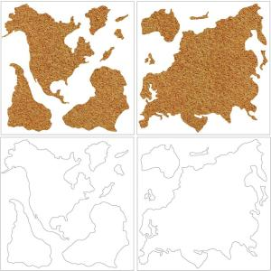 Wall Pops-26 in. x 26 in. Cork Map Pinboard Wall Decal